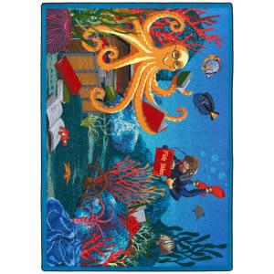 Joy Carpets Kid Essentials Fish Tales Multi Area Rug