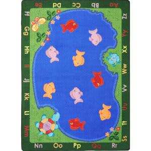 Joy Carpets Kid Essentials Fishin' Fun Multi Area Rug