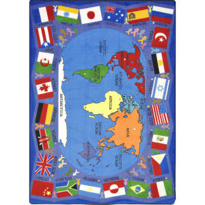Joy Carpets Kid Essentials Flags Of The World Multi Area Rug