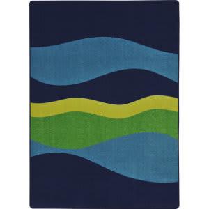 Joy Carpets Kid Essentials Flow Navy Area Rug