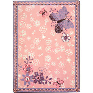 Joy Carpets Kid Essentials Flower Fields Multi Area Rug