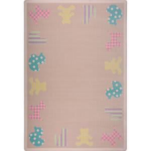 Joy Carpets Kid Essentials Frisky Friends Multi Area Rug