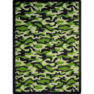 Joy Carpets Kaleidoscope Funky Camo Green Area Rug