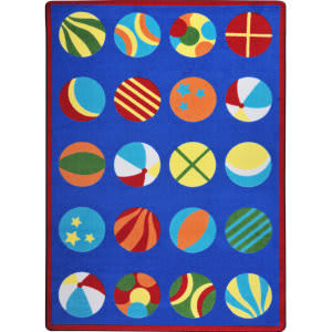 Joy Carpets Kid Essentials Have A Ball Multi Area Rug
