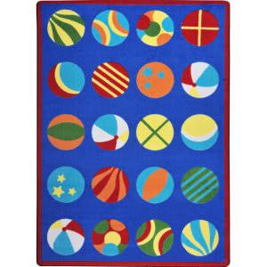 Joy Carpets Kid Essentials Have A Ball Multi Area Rug