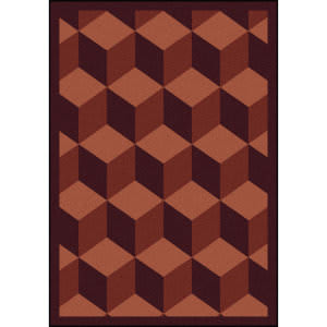 Joy Carpets Kaleidoscope Highrise Burgundy Area Rug