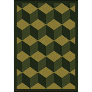 Joy Carpets Kaleidoscope Highrise Olive Area Rug