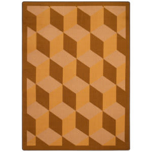 Joy Carpets Kaleidoscope Highrise Wheat Area Rug