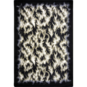 Joy Carpets Kaleidoscope Inferno Charcoal Area Rug