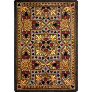 Joy Carpets Games People Play Jackpot Beige Area Rug