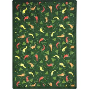 Joy Carpets Kaleidoscope Jalapeno Fiesta Emerald Area Rug