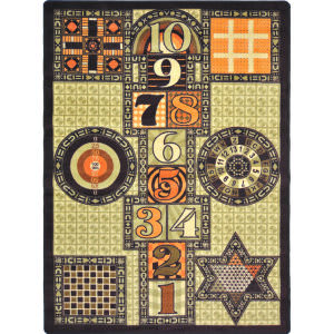 Joy Carpets Kid Essentials Games Galore Autumn Area Rug