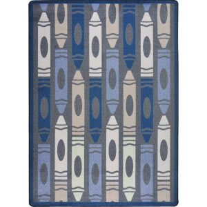 Joy Carpets Playful Patterns Jumbo Crayons Seaside Area Rug