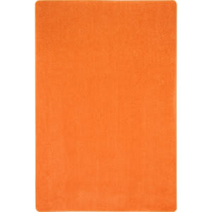 Joy Carpets Kid Essentials Just Kidding Tangerine Orange Area Rug
