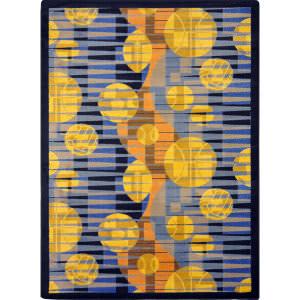 Joy Carpets Games People Play Keeping Score Blue Area Rug