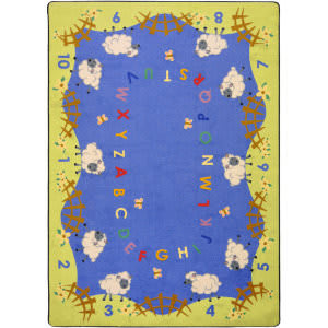 Joy Carpets Kid Essentials Lamby Pie Multi Area Rug