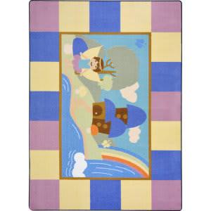 Joy Carpets Kid Essentials Lil' Fairy Multi Area Rug