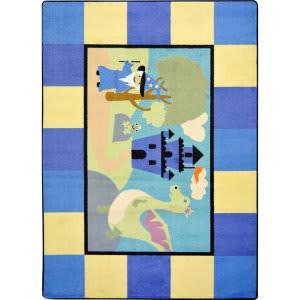 Joy Carpets Kid Essentials Lil' Wizard Multi Area Rug