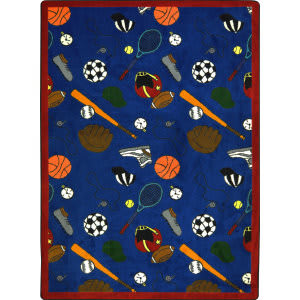 Joy Carpets Games People Play Multi-Sport Blue Area Rug