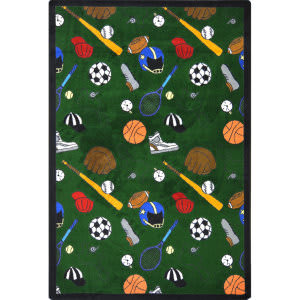 Joy Carpets Games People Play Multi-Sport Green Area Rug