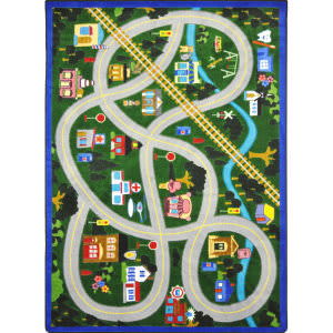 Joy Carpets Kid Essentials My Community Helpers Multi Area Rug