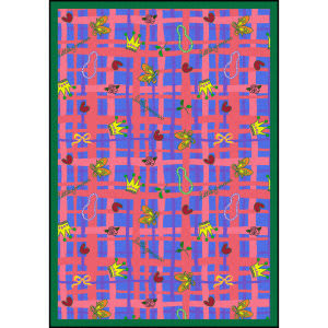 Joy Carpets Playful Patterns My Little Princess Blue Area Rug