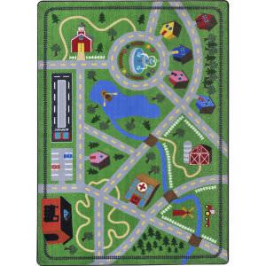 Joy Carpets Kid Essentials Neighborhood Explorer Multi Area Rug
