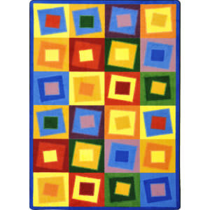 Joy Carpets Kid Essentials Off Balance Brights Area Rug