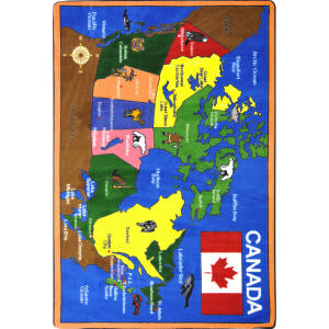 Joy Carpets Kid Essentials Oh Canada Multi Area Rug