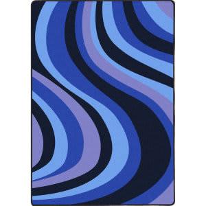 Joy Carpets Kid Essentials On The Curve Blue Area Rug