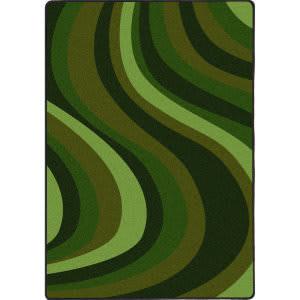 Joy Carpets Kid Essentials On The Curve Green Area Rug