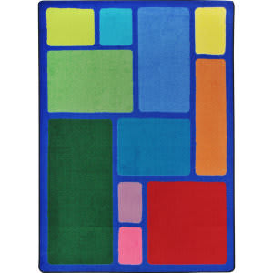 Joy Carpets Kid Essentials Our Block Multi Area Rug