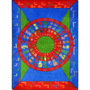 Joy Carpets Kid Essentials Play On Words Multi Area Rug