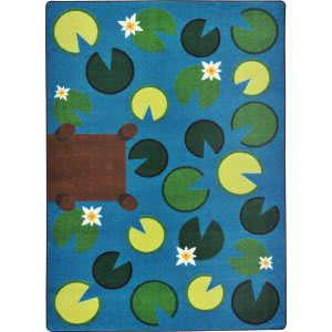 Joy Carpets Kid Essentials Playful Pond Multi Area Rug