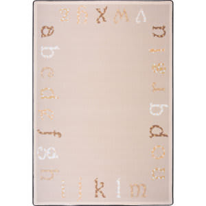 Joy Carpets Kid Essentials Polka Dot Abc's Beige Area Rug