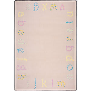 Joy Carpets Kid Essentials Polka Dot Abc's Multi Area Rug