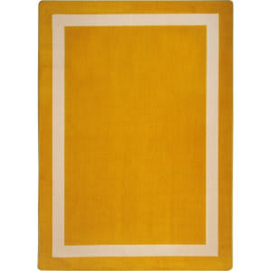 Joy Carpets Kid Essentials Portrait Goldenrod Area Rug