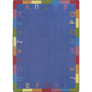 Joy Carpets Kid Essentials Rainbow Alphabet Pastel Area Rug