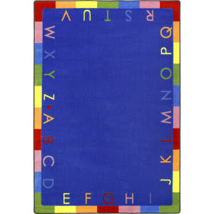 Joy Carpets Kid Essentials Rainbow Alphabet Bold Area Rug