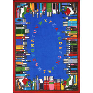 Joy Carpets Kid Essentials Read And Learn Multi Area Rug