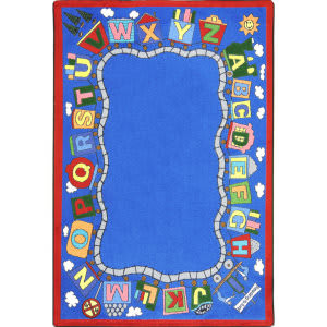 Joy Carpets Kid Essentials Reading Train Multi Area Rug