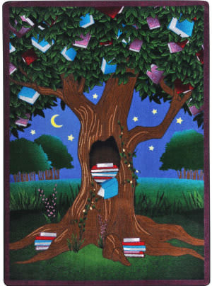 Joy Carpets Kid Essentials Reading Tree Multi Area Rug