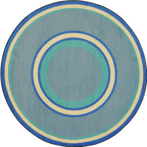 Joy Carpets Kid Essentials Ripples Boy Blue Area Rug