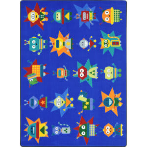 Joy Carpets Kid Essentials Robot Invasion Multi Area Rug