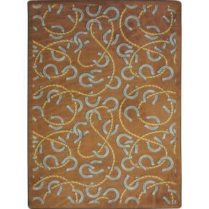 Joy Carpets Kaleidoscope Rodeo Chocolate Area Rug