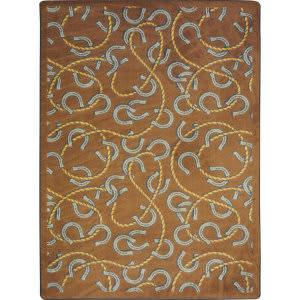Joy Carpets Kaleidoscope Rodeo Chocolate Area Rug