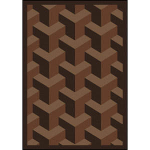 Joy Carpets Kaleidoscope Rooftop Chocolate Area Rug