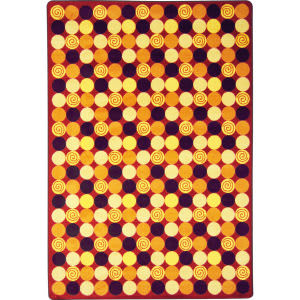 Joy Carpets Kid Essentials Roundabout Red Area Rug