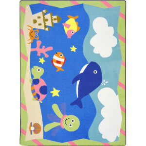Joy Carpets Kid Essentials Sea Babies Multi Area Rug