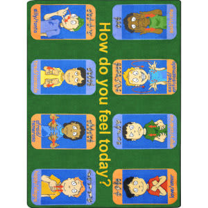 Joy Carpets Kid Essentials Signs Of Emotions Multi Area Rug